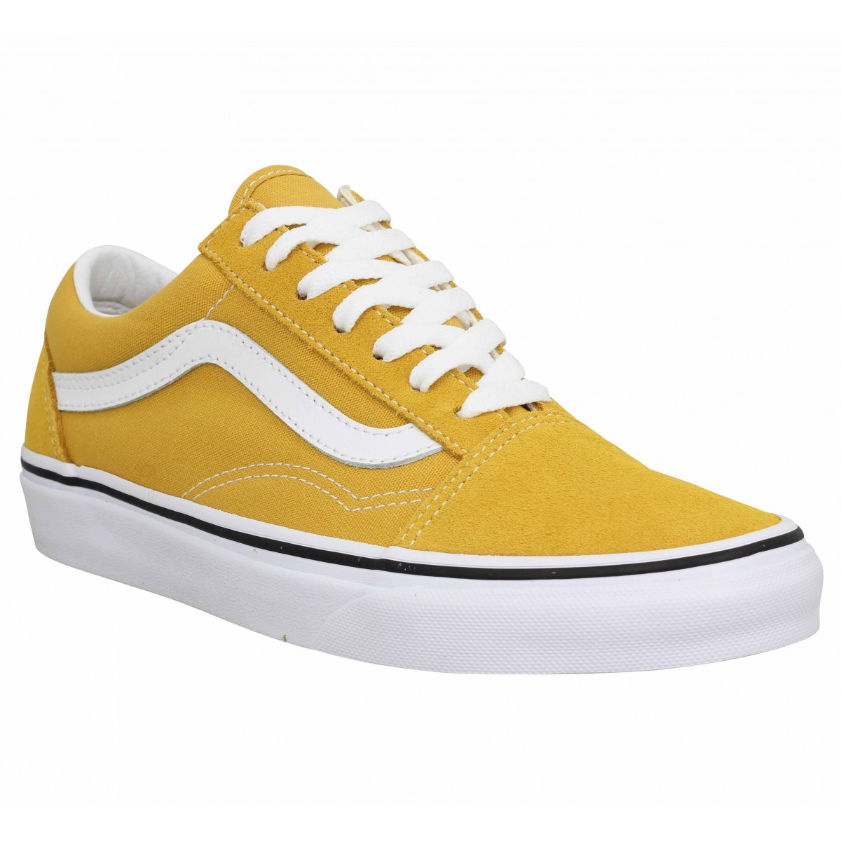 Baskets VANS Old Skool velours toile Jaune