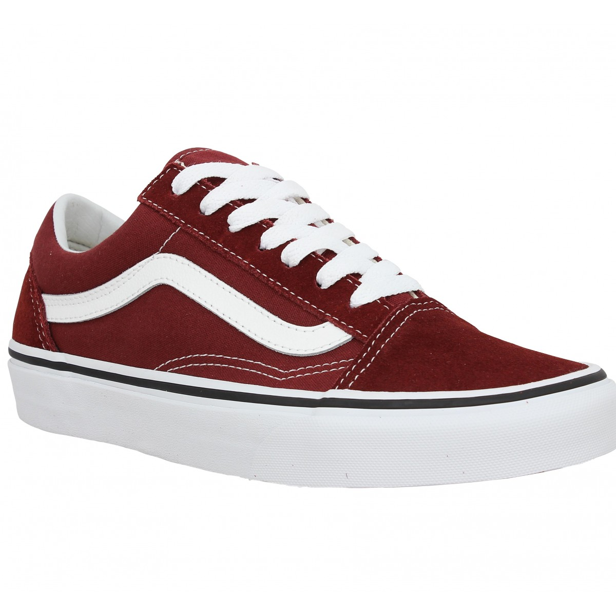Baskets VANS Old Skool velours toile Madder Brown