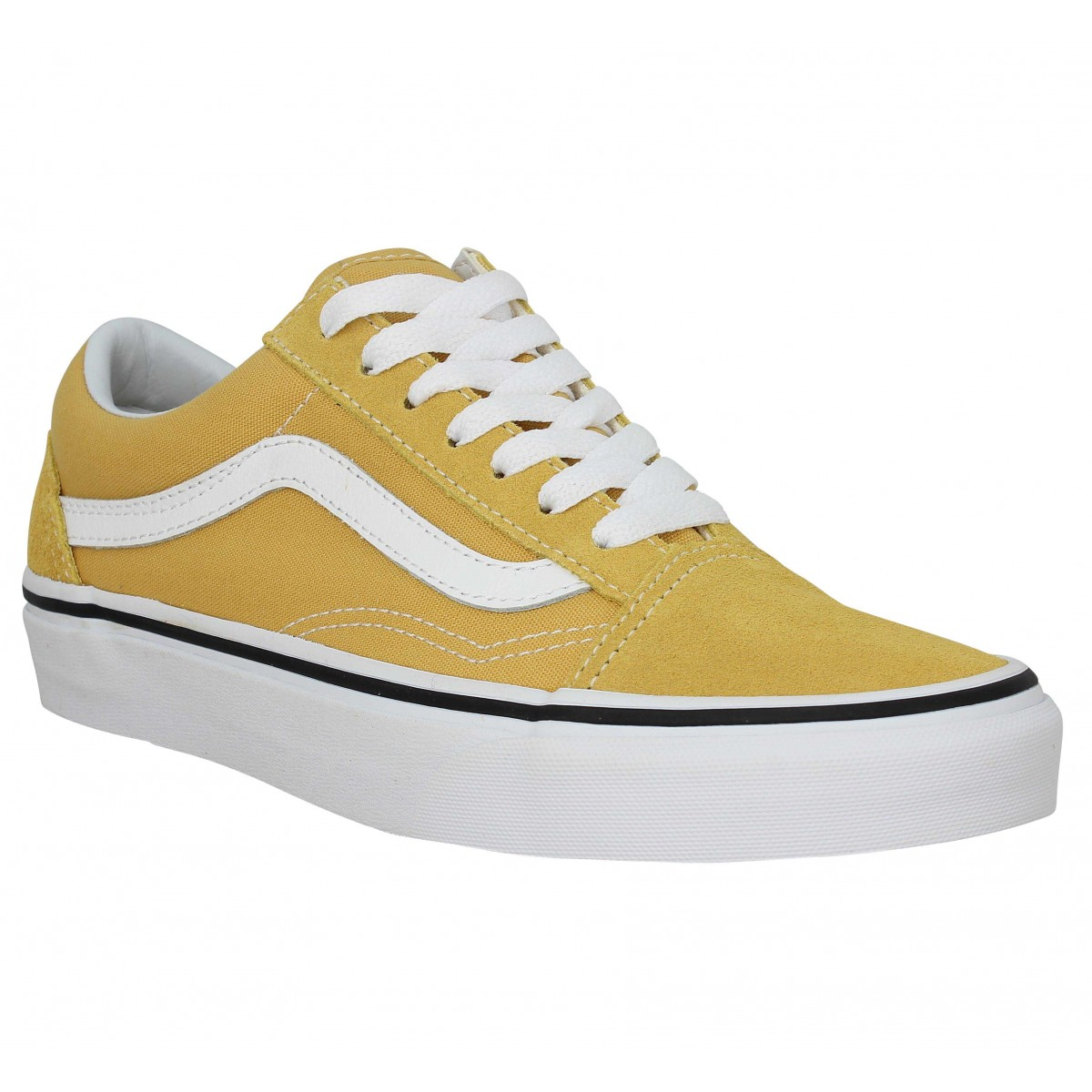 Baskets VANS Old Skool velours toile Ocre