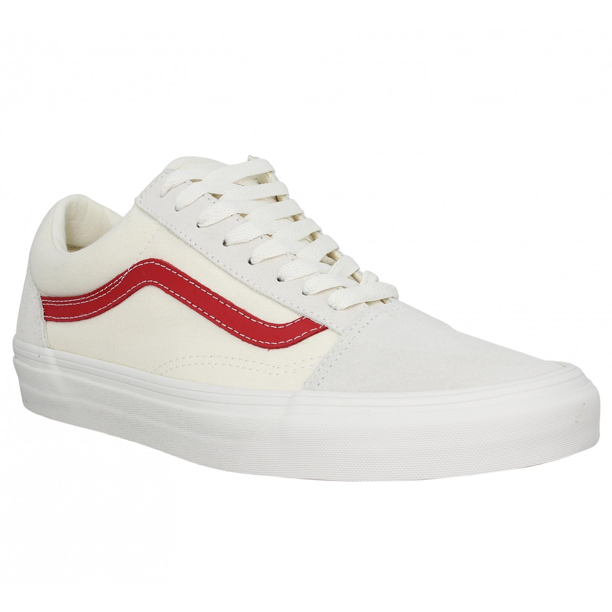 vans old skool vintage rouge
