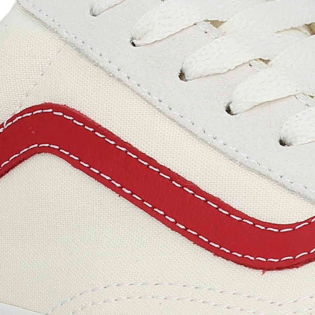 Chaussures Vans old skool vintage toile homme blanc homme