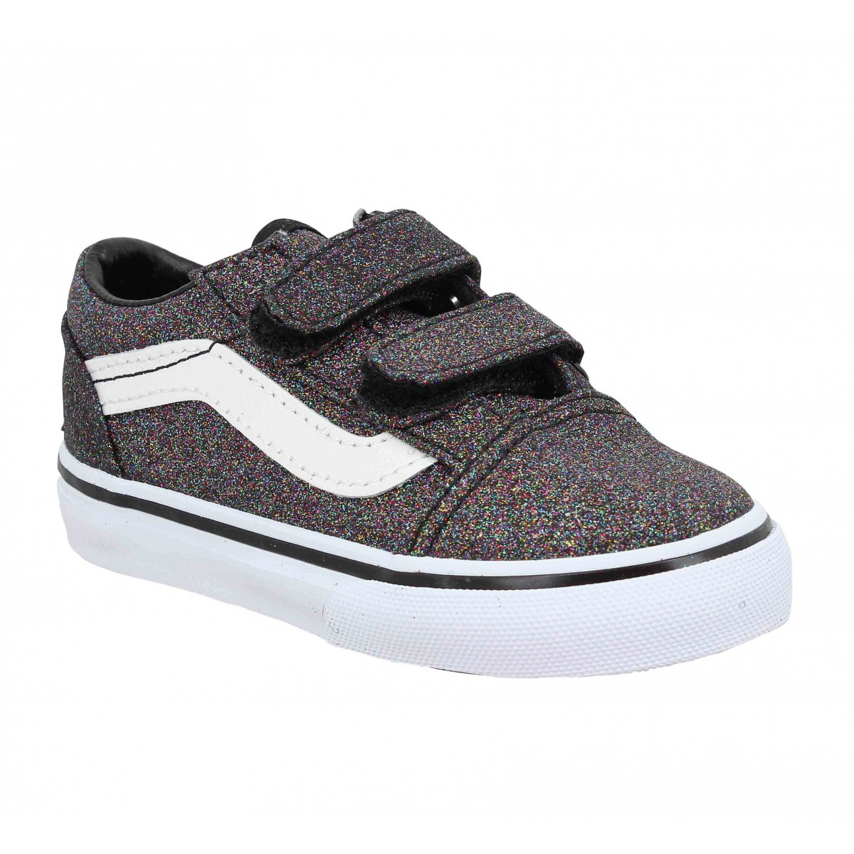 vans old skool vl glitter enfant noir enfants fanny chaussures. Black Bedroom Furniture Sets. Home Design Ideas