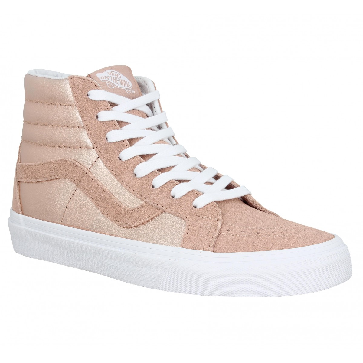 63d7f904d3 Baskets VANS SK8 Hi Reissue metallic cuir Femme Rose