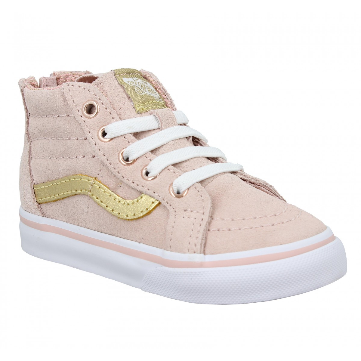 Baskets VANS SK8 Hi velours Enfant Rose