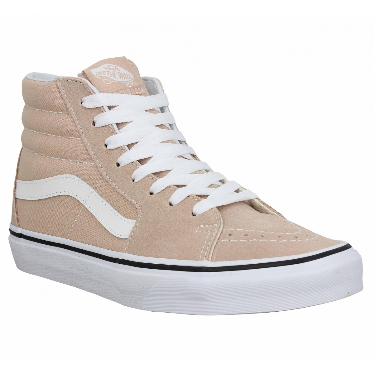 Baskets VANS SK8 Hi velours toile Femme Rose