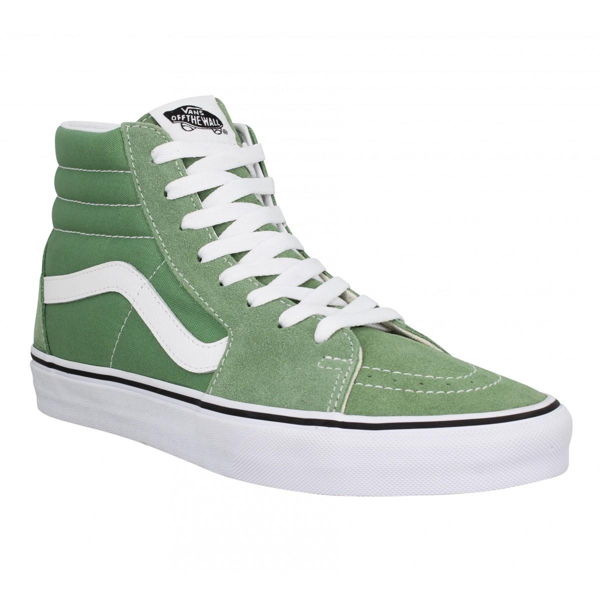 Baskets VANS SK8 Hi velours toile Green
