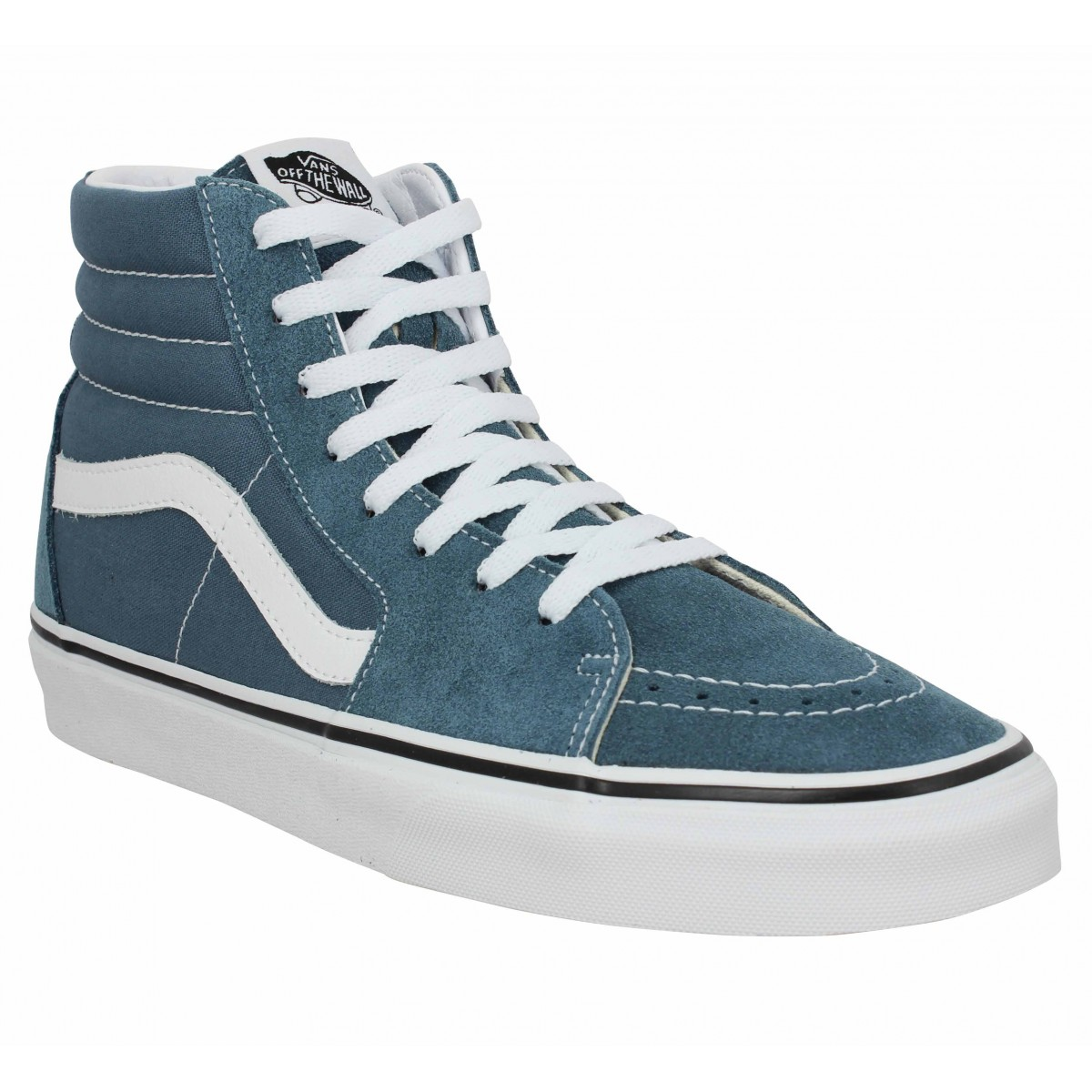 Baskets VANS SK8 Hi velours toile Homme Blue Mirage