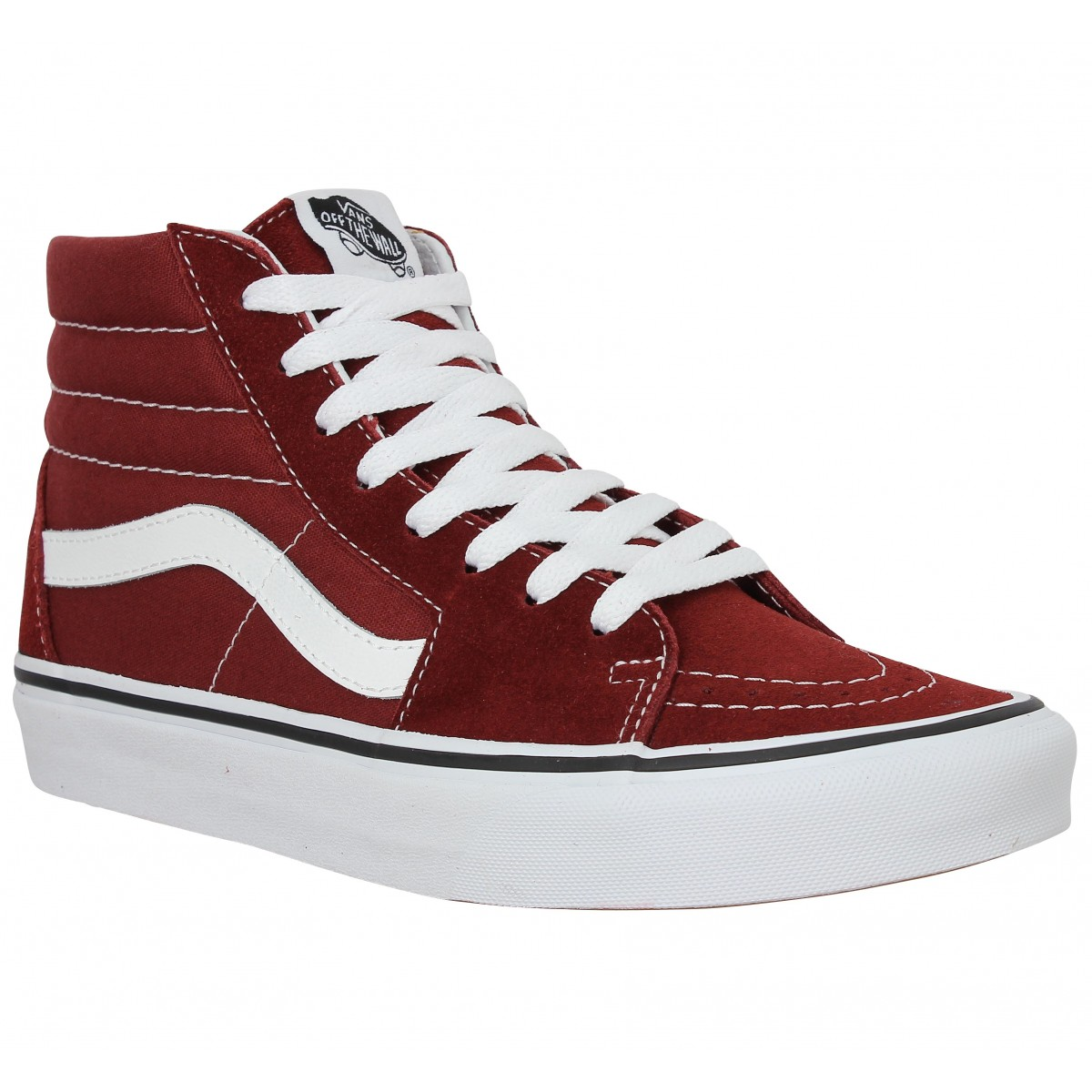 soldes vans sk8 hi velours toile madder brown femme homme fanny chaussures. Black Bedroom Furniture Sets. Home Design Ideas