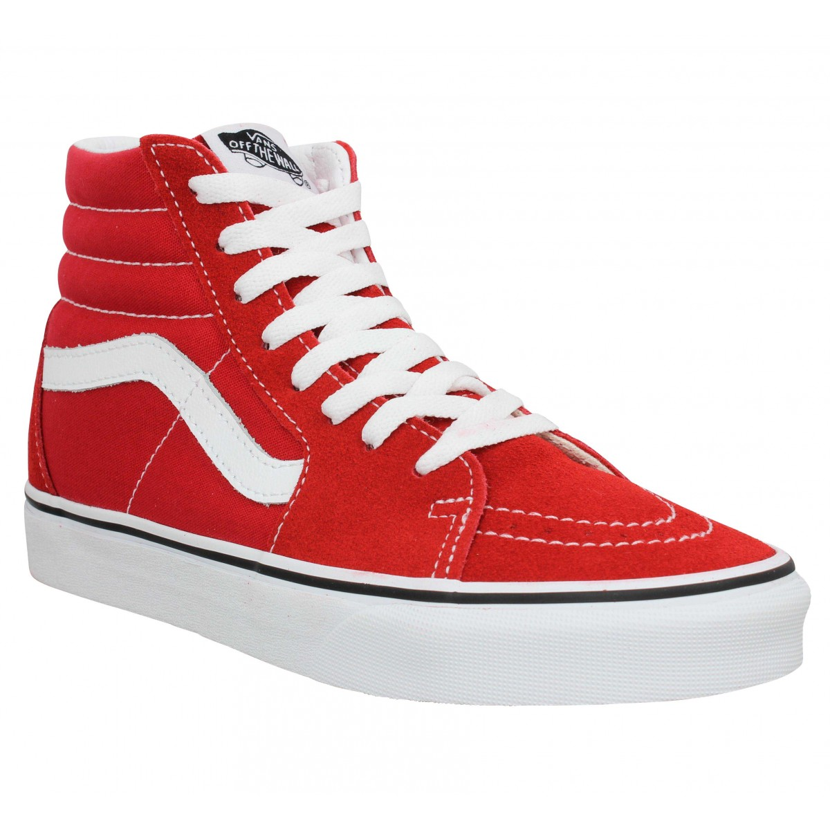 Baskets VANS SK8 Hi velours toile Racing Red