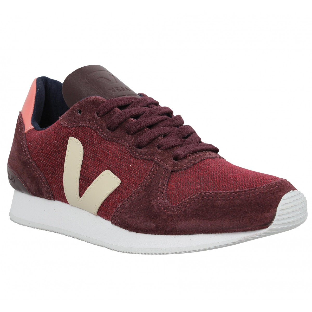 Baskets VEJA Holiday cuir textile Femme Bordeaux