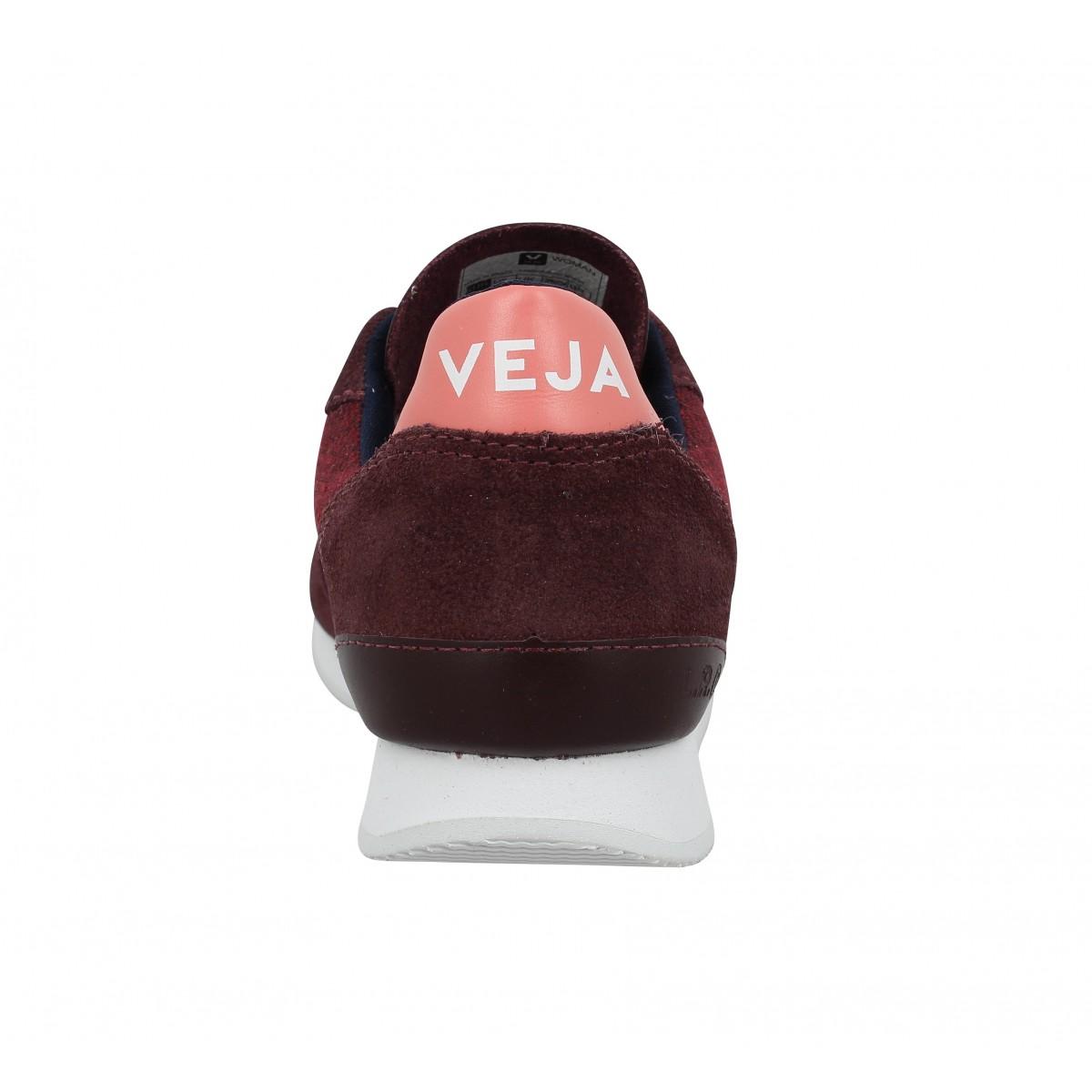VEJA Holiday cuir textile Femme Bordeaux