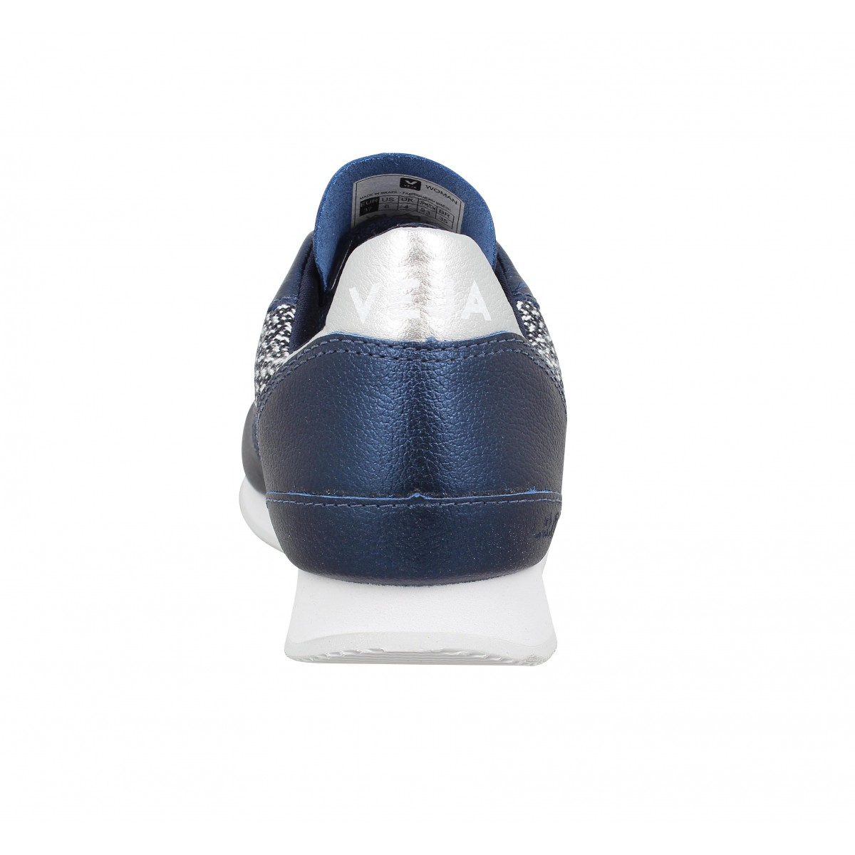 Chaussures Veja holiday cuir textile femme petrole femme