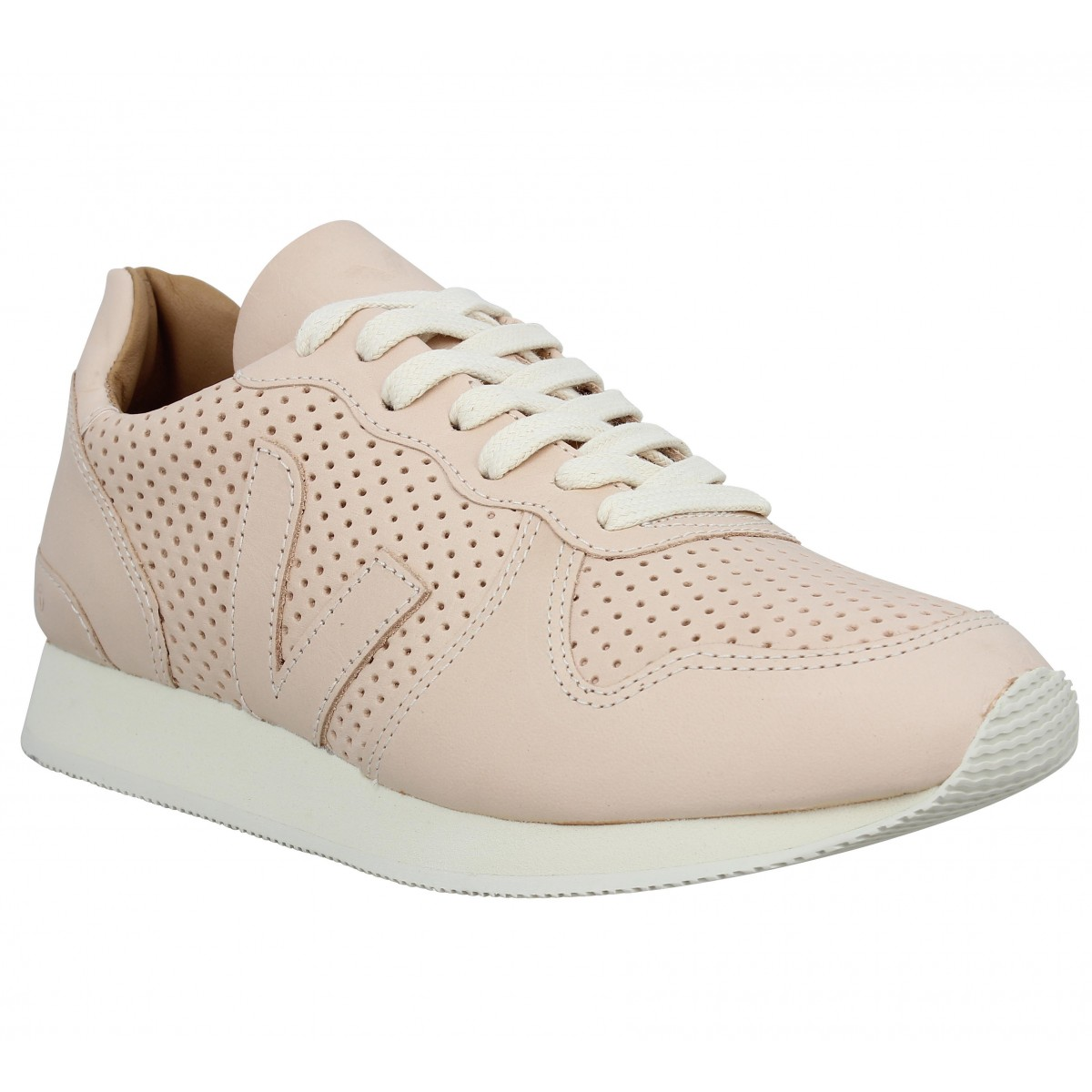 Baskets VEJA Holiday Low Top Bastille cuir Femme Rose