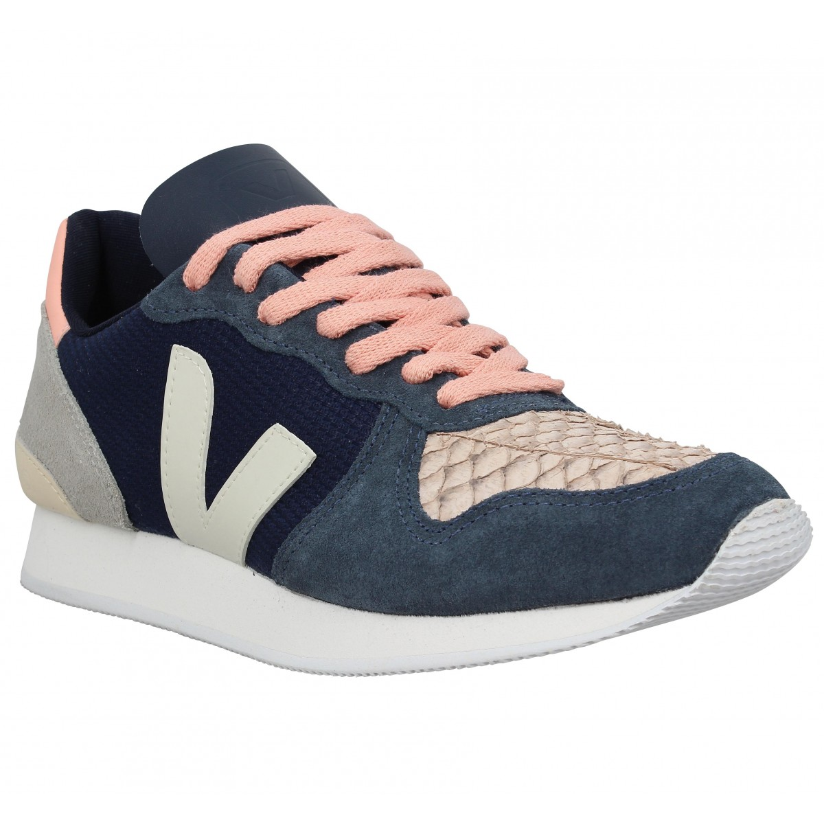 Baskets VEJA Holiday Low Top mesh Femme Navy