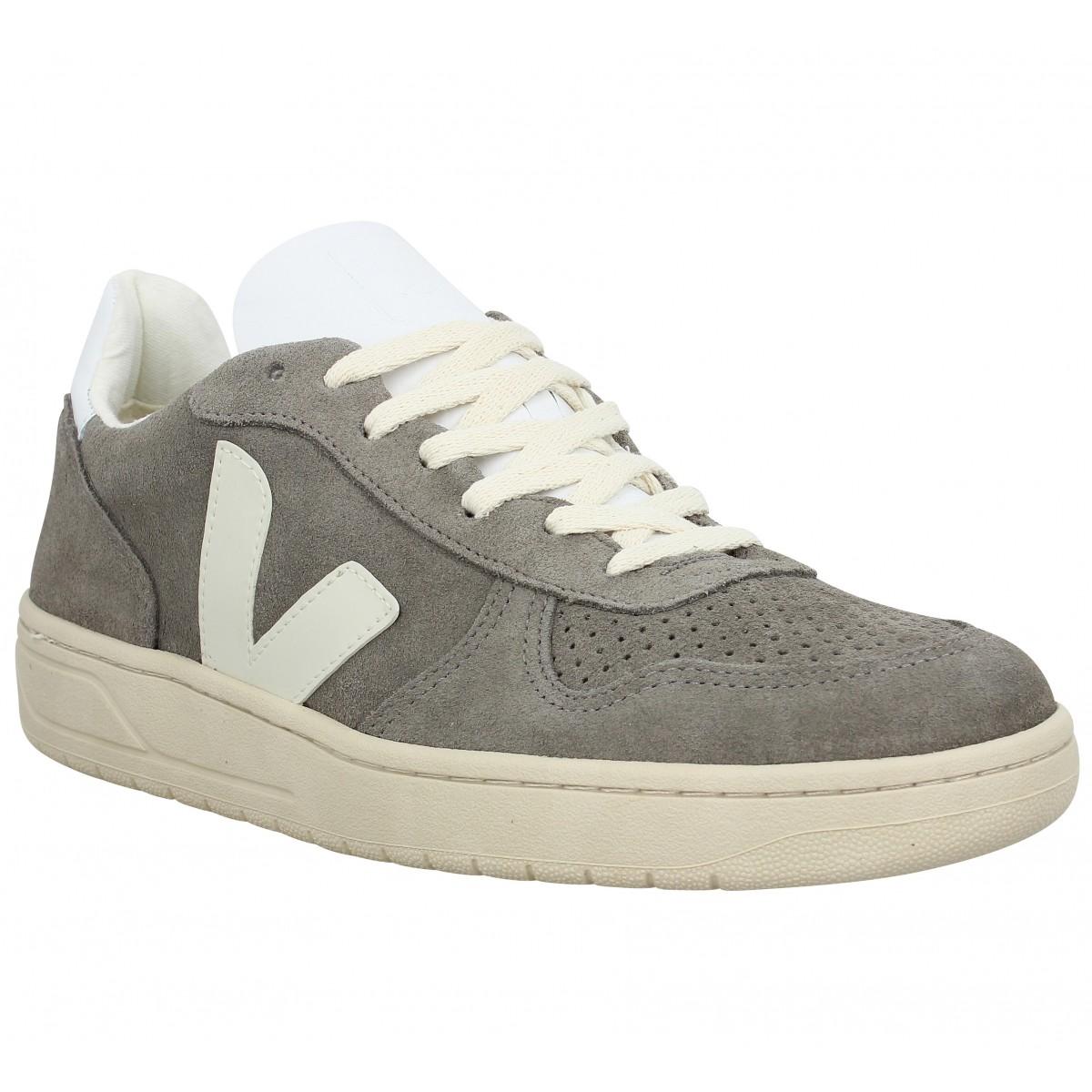 Veja Homme V10 Velours -45-gris
