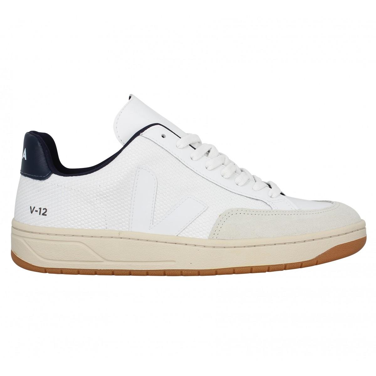bonne vente de chaussures super service grand assortiment VEJA V12 mesh Homme Blanc