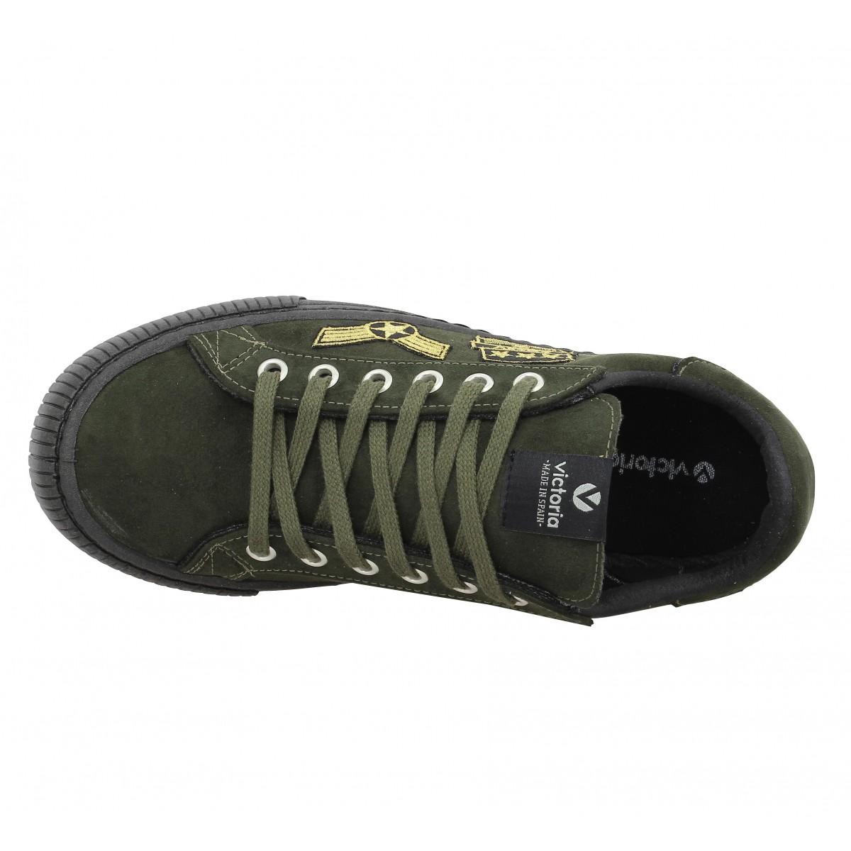 Chaussures Victoria 11651 suede femme kaki femme | Fanny