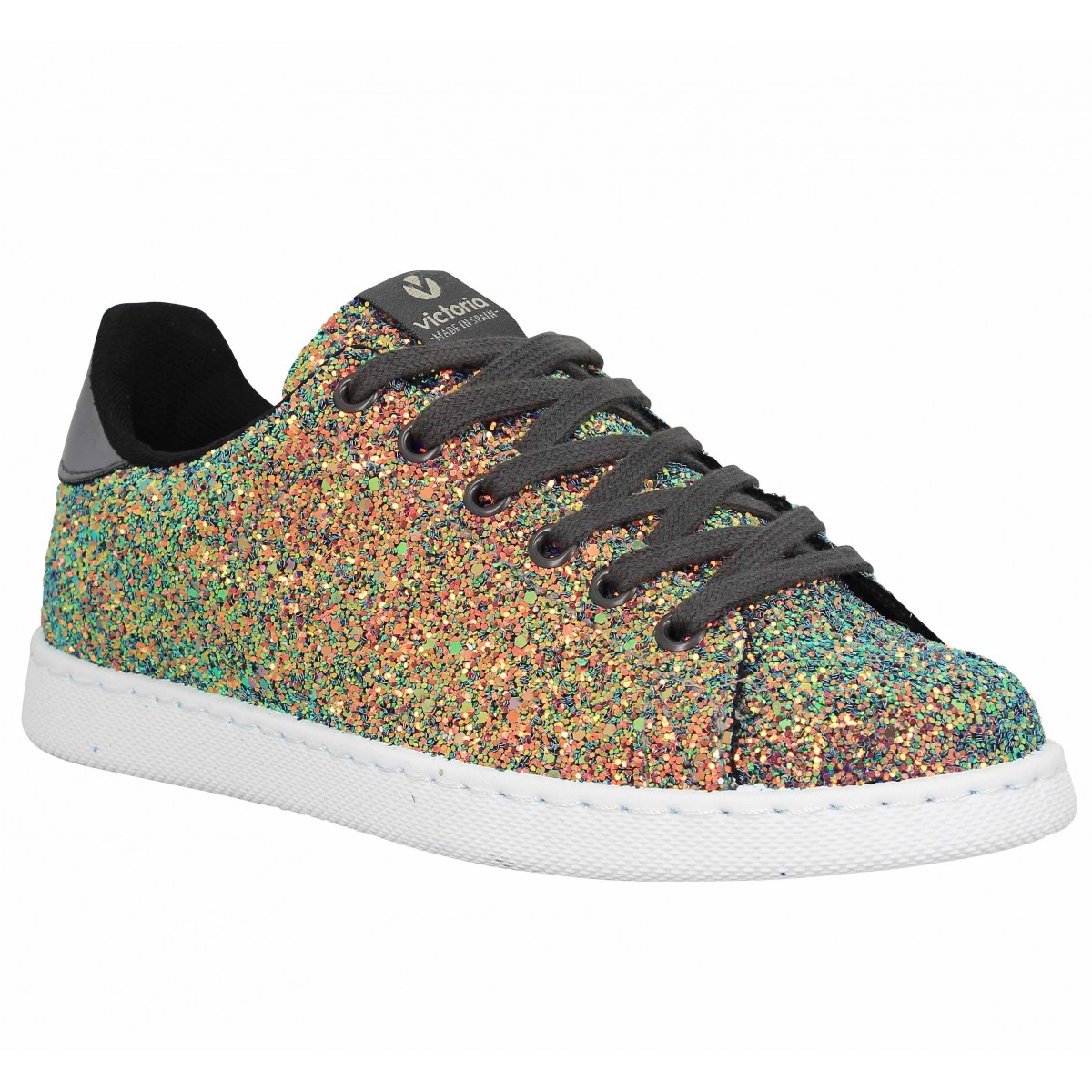 Baskets VICTORIA 12516 full glitter Femme Or