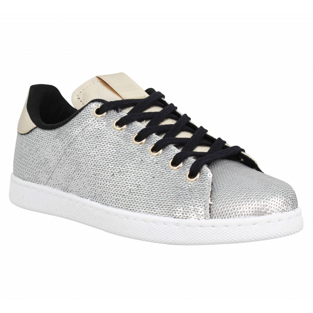 Argent Sequins Chaussures Victoria Fanny 12517 Femme q1PBwnxtO