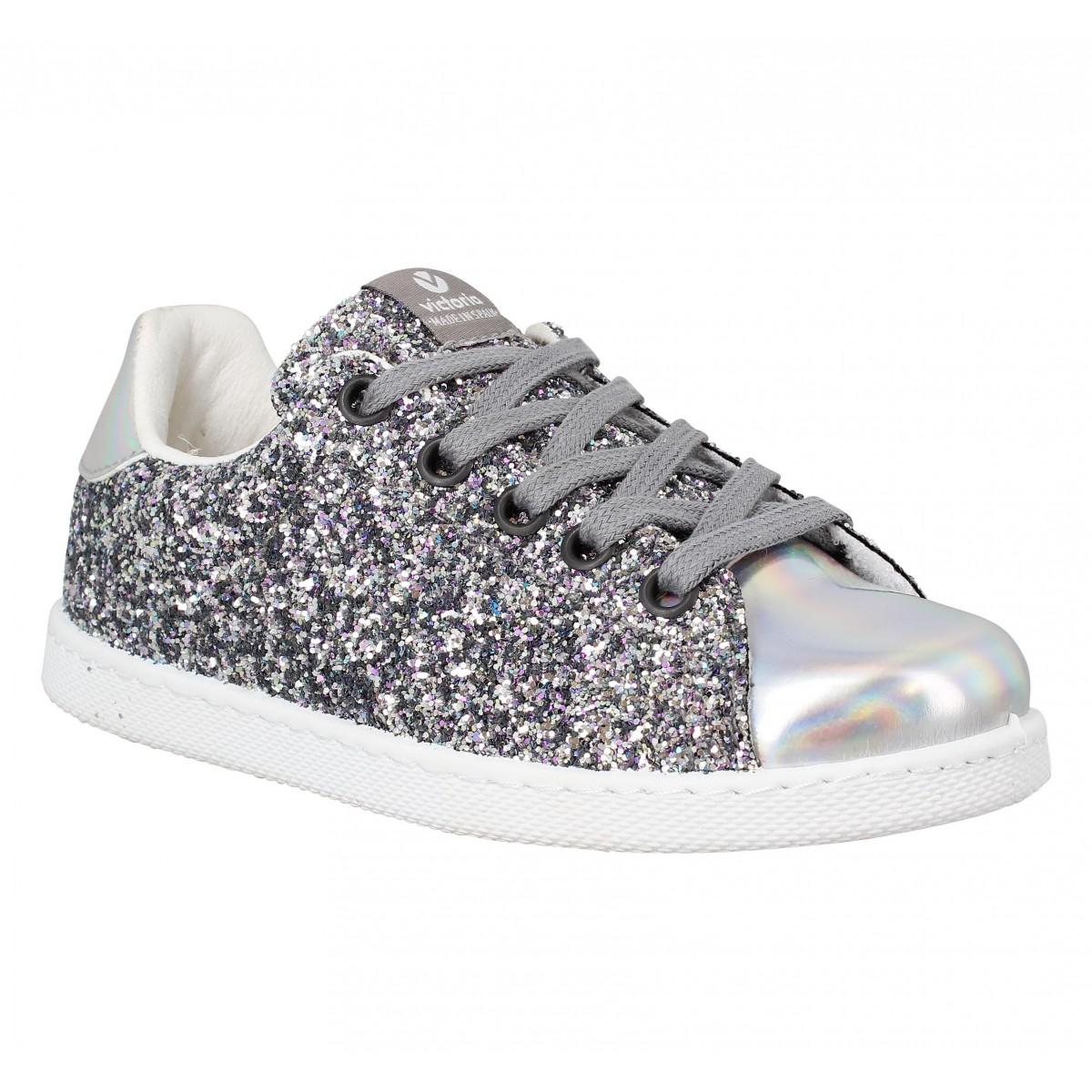 competitive price 2cdc1 be506 Baskets VICTORIA 12558 glitter Enfant Plata