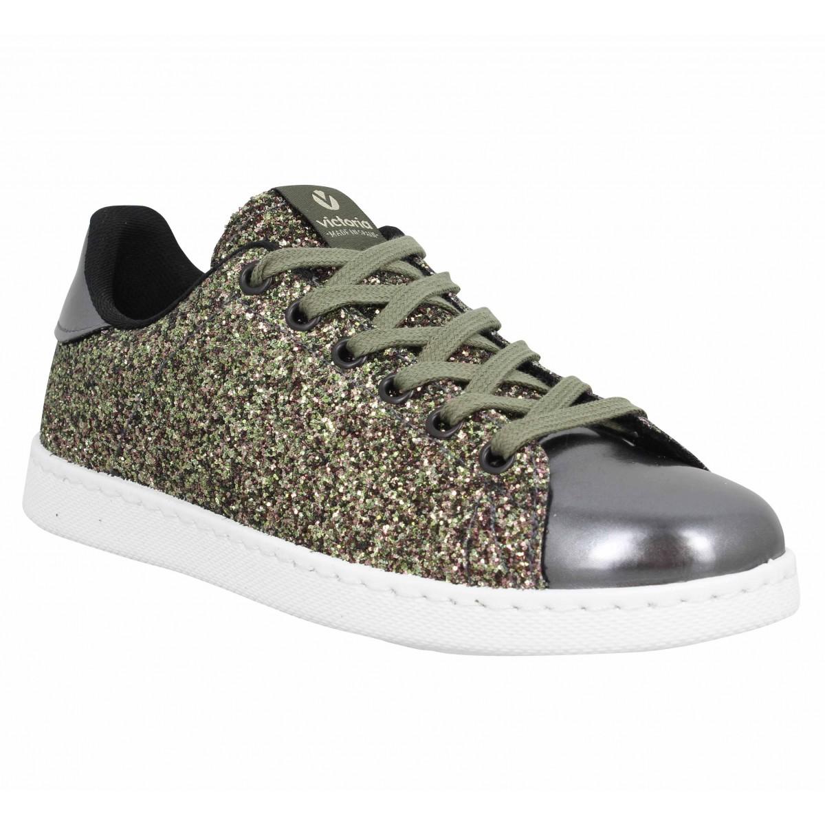 VICTORIA Chaussures TENIS GLITTER Kaki 112558 Newstock Boutique