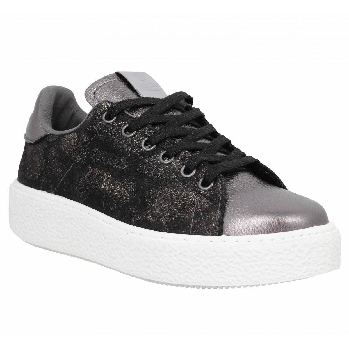 Baskets VICTORIA 12621 reptile Femme Anthracite