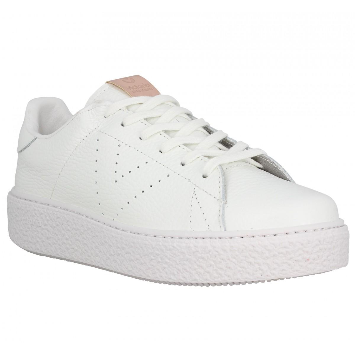 Basket Blanche Cuir Femme : chaussures victoria femme blanche ~ Pogadajmy.info Styles, Décorations et Voitures