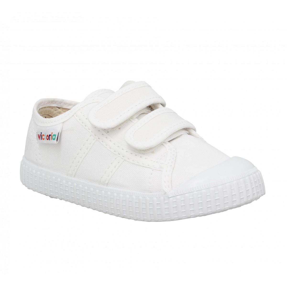 Baskets VICTORIA 36606 Velcro toile Enfant Blanc
