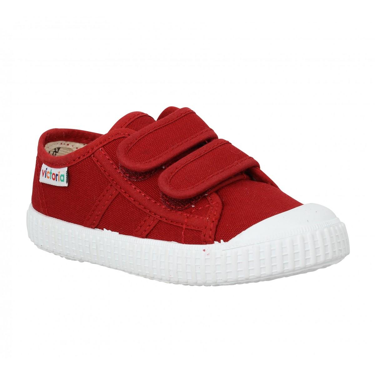 Baskets VICTORIA 36606 Velcro toile Enfant Rouge
