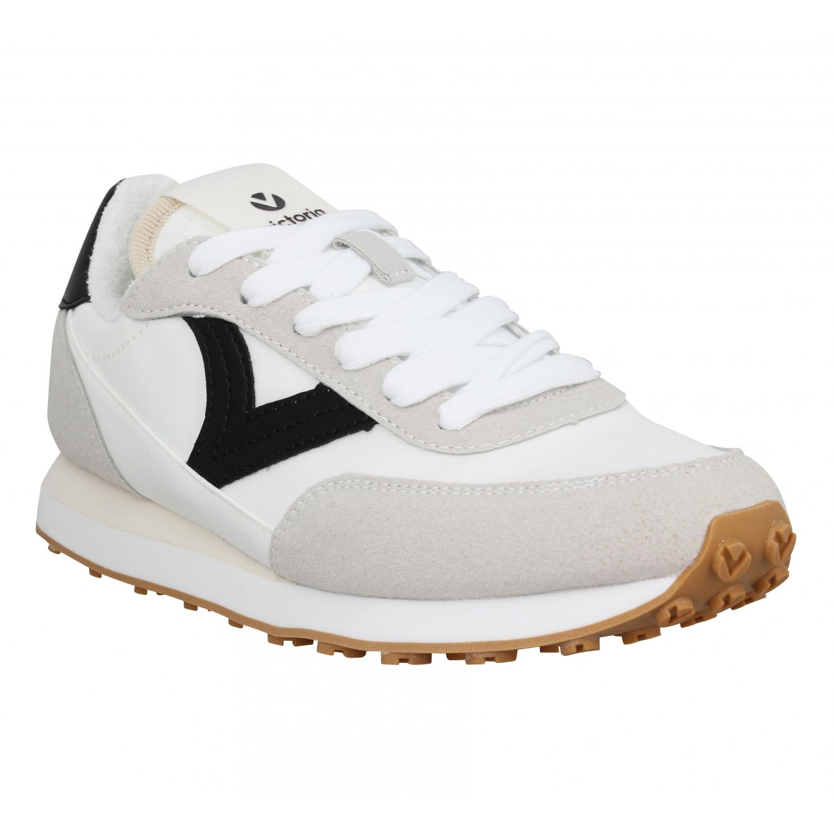 Baskets VICTORIA 38100 run simili Femme Blanc
