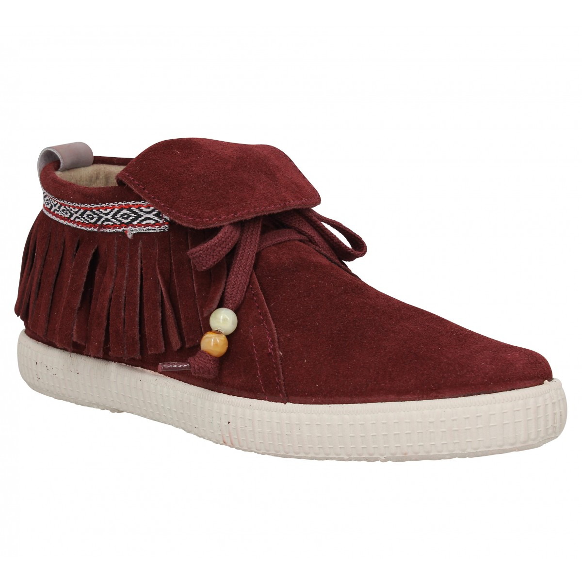 Baskets VICTORIA 66100 velours Femme Bordeaux