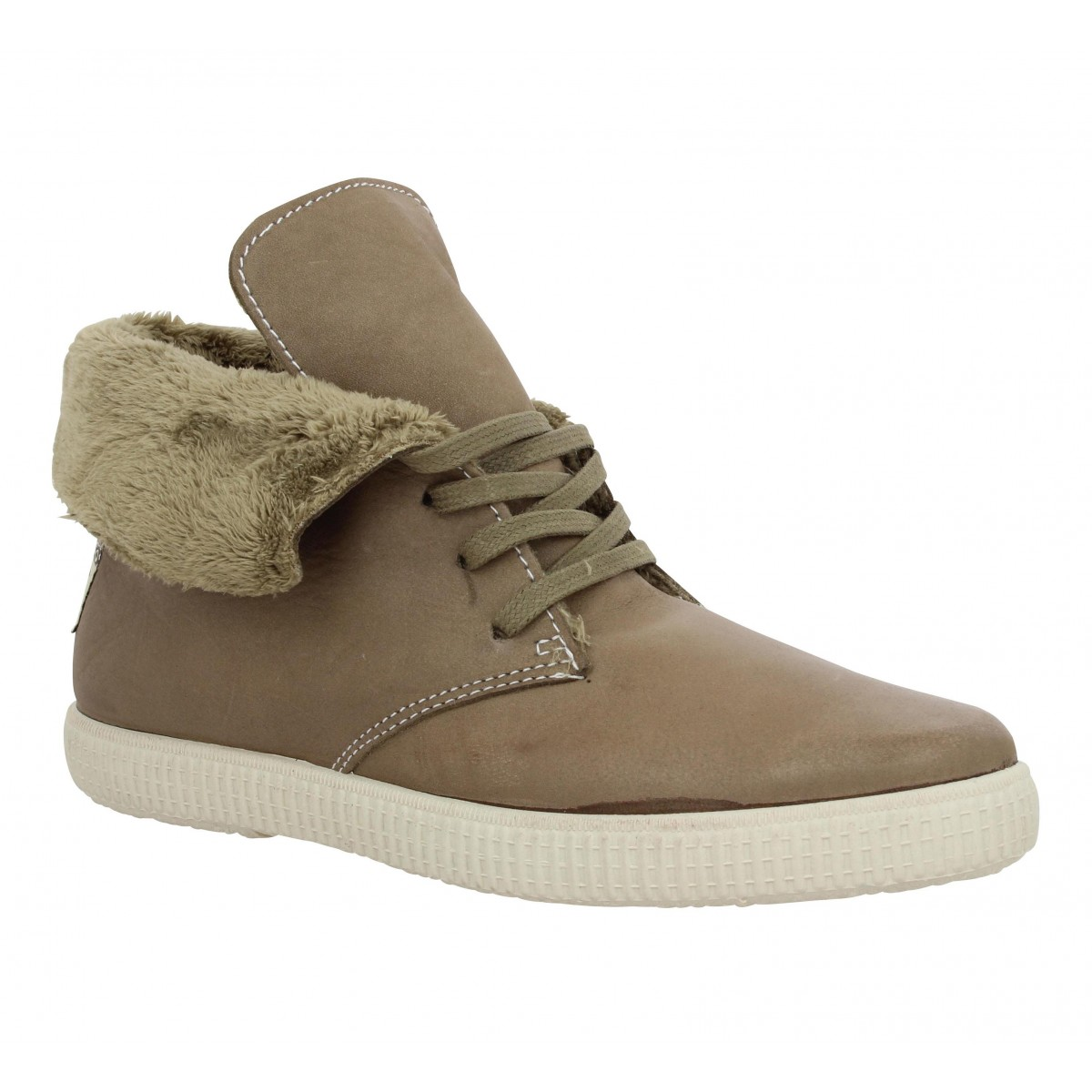 Baskets VICTORIA 6786 cuir Femme Taupe