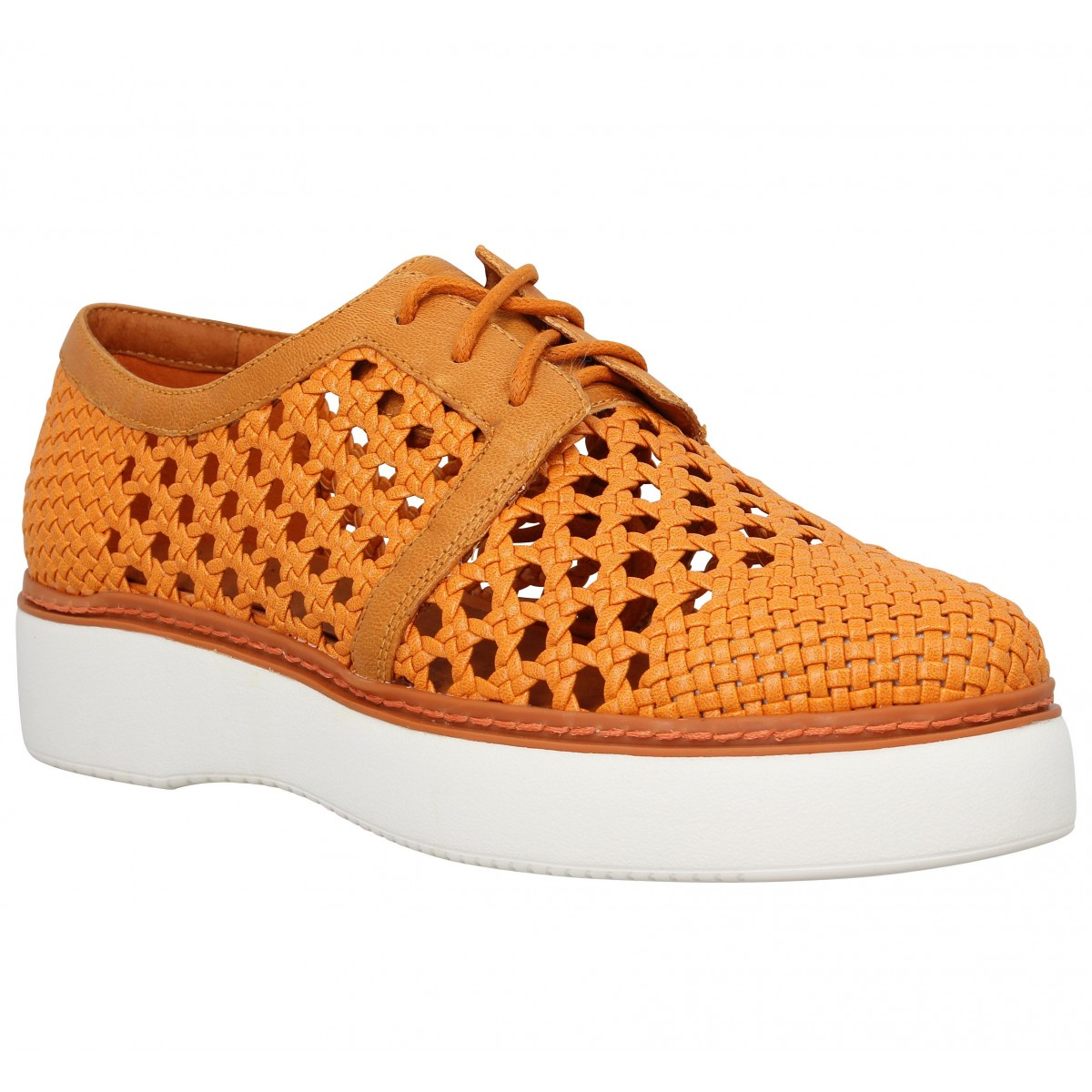 Chaussures à lacets WHAT FOR 7024 Femme Orange