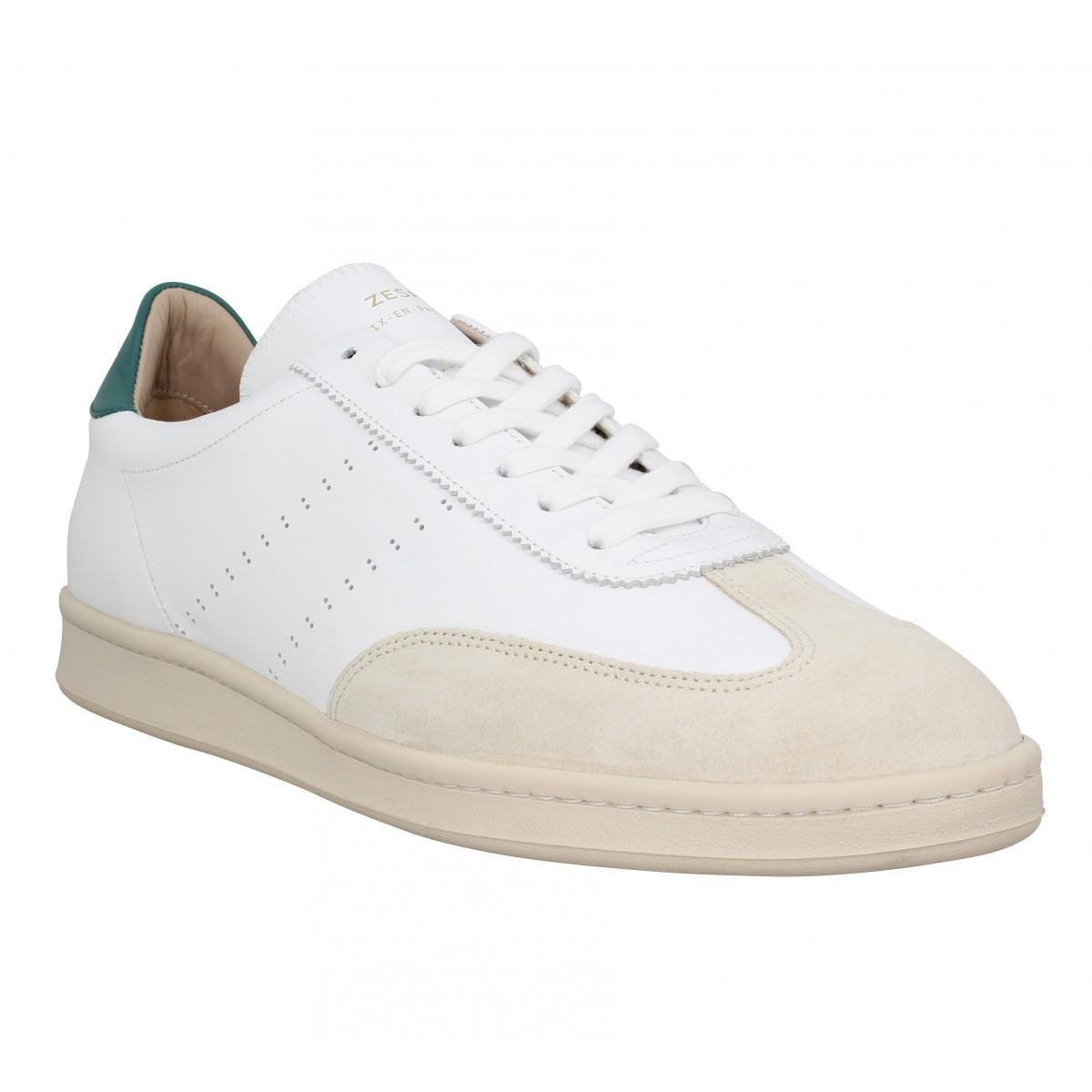 Baskets ZESPA ZSPGT cuir Homme Blanc Cypres