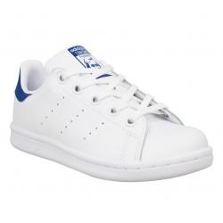 c07ef992e99fd ADIDAS Stan Smith cuir Enfant Blanc Bleu