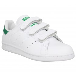 Adidas stan smith cuir blanc vert femme homme | Fanny chaussures