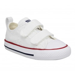 quality design 1f8e8 89a38 CONVERSE Chuck Taylor All Star 2V broderies Enfant Blanc. Baskets   Tennis  mode