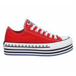 CONVERSE Chuck Taylor All Star PlatForm Layer toile Femme Rouge
