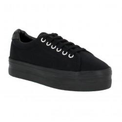 2e7f689ab1e NO NAME Plato Sneaker toile Femme Noir