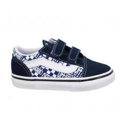 Chaussures Baskets & tennis mode Vans Bleu, Rouge | lvcentinvs.es