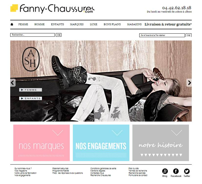 Site Web Fanny Chaussures