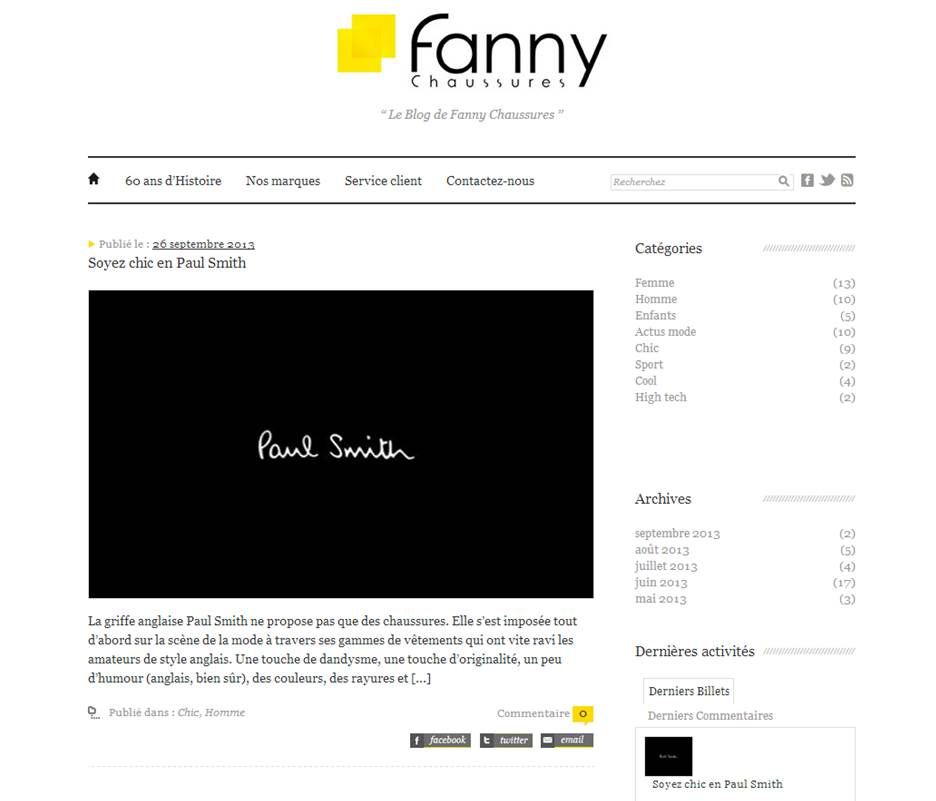 Blog Fanny Chaussures